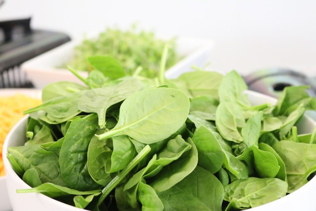 Bowl of spinach - leafy greens