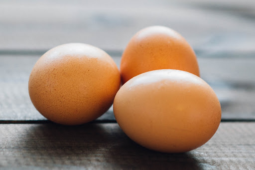 Food to eat while pregnant - three eggs